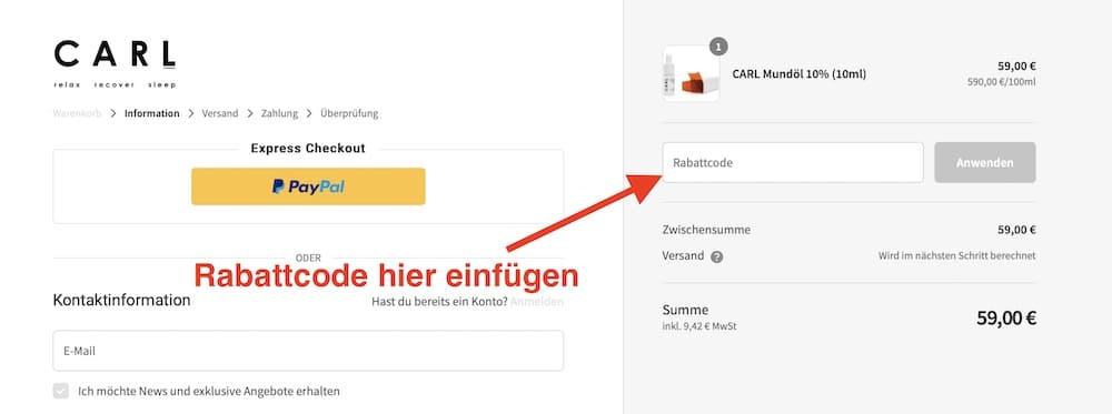 Carl Company Rabattcode und Gutschein einösen