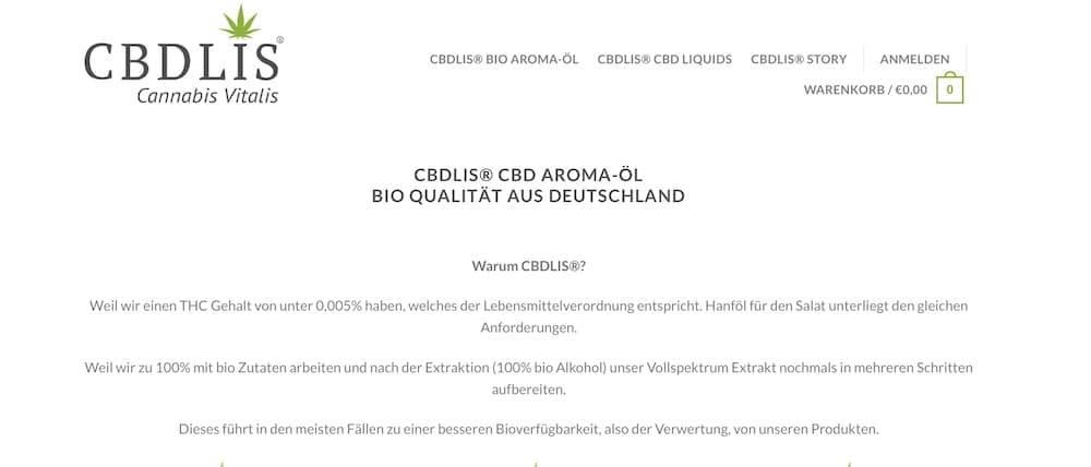 CBDLIS Rabattcode und Gutschein