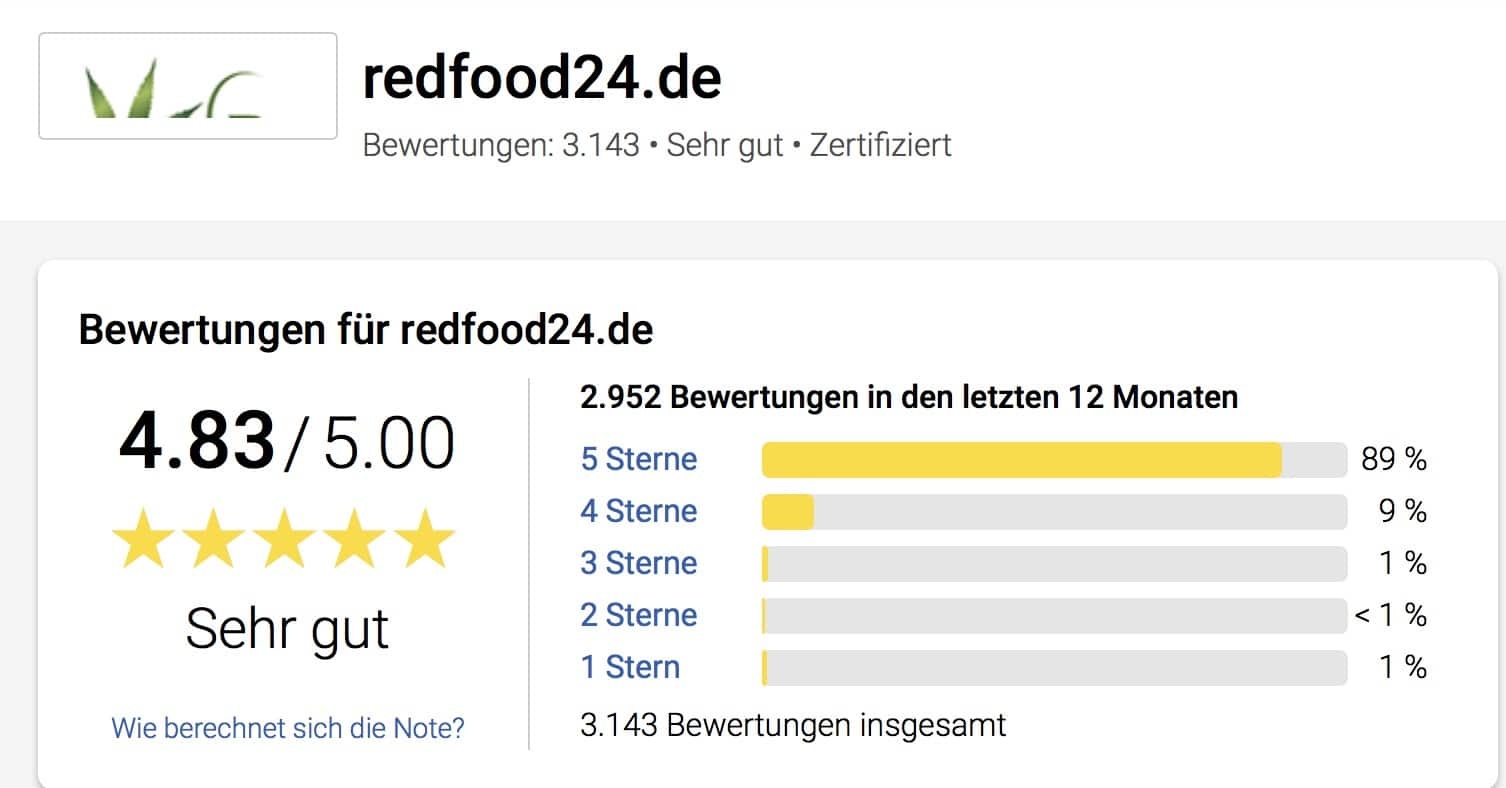 Redfood24 Trusted Shops Bewertungen