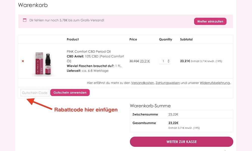 Pink Comfort Rabattcode und Gutschein einlösen
